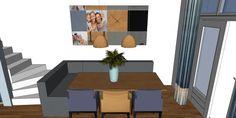 3D impressie interieurontwerp eethoek Uitgeest by Flow Design (6)