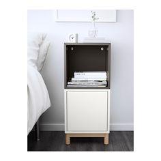 EKET Combinazione di mobili con gambe - bianco/grigio scuro - IKEA