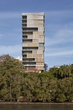 Brisbane architects bureau^proberts have reimagined the traditional Queenslander for contemporary high-rise apartment living. Concrete Architecture, Architecture Awards, Commercial Architecture, Sustainable Architecture, Residential Architecture, Architecture Design, Building Architecture, Minimal Architecture, Brisbane Architects