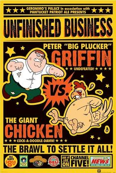 Peter Griffin vs Giant Chicken poster