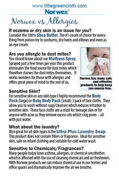 Norwex can help with allergies and sensitive skin. #Norwex #Microfiber #Clean www.mariaheflin.norwex.biz