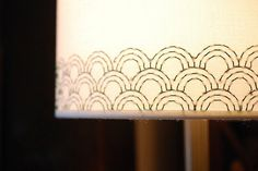 Add a beautifully subtle handmade touch to your home decor with an embroidered lampshade!