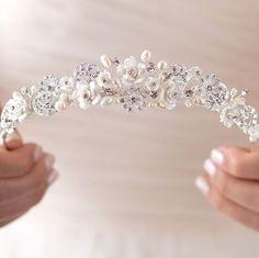 d929520647 Diamantes de imitación y Tiara de novia accesorios por USABride Accesorios  Para Novias