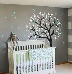 Large Owl Hoot Star Tree Kids Nursery Decor Wall Decals Wall Art Baby – IDecoRoom