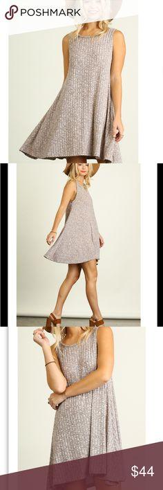 Sleeveless Knit A Line Dress in Mocha Sleeveless Knit A Line Dress. Size S fits 2/4. M fits 6/8. L fits 10/12 Dresses Mini
