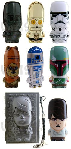 Star Wars USB Flash Drives - C3PO, R2-D2, Darth Vader, Han Solo and Wicket