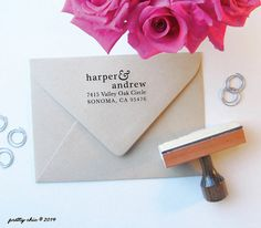 Lovely Ampersand Address Stamp  Custom Stamp  by prettychicsf, $38.95