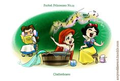 Disney Pocket Princesses!  Pocket Princesses 13 @Jakub Pogorzelski Pogorzelski this is you me and Rebecca lol.