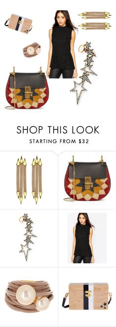 """67"" by aileen888 ❤ liked on Polyvore featuring Nicole Romano, Chloé, Diane Kordas, Minimum, Saachi and Edie Parker"