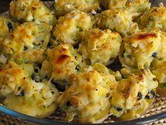 Batatas recheadas com bacalhau