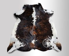 Brindle Tricolor Cowhide Rug XL APPROX 6ft x 8ft