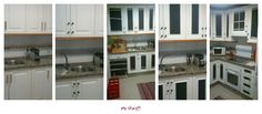 Un cambio a la cocina! Paneles pintados con pintura pizarra!