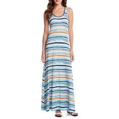 Karen Kane Sunrise Stripe Tasha Maxi Dress