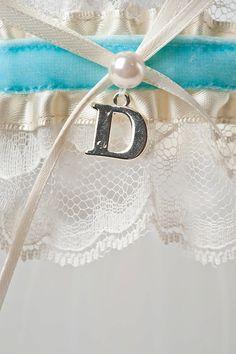 Wedding Garter Blue Custom by LaGartierGarters on Etsy