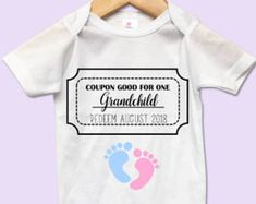 Pregnancy Announcement Onesie. Handmade Item. Made to order. #cuteonesie #giftideas
