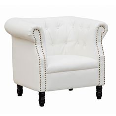 Fine Mod Imports FMI10182-white Chester Chair, White