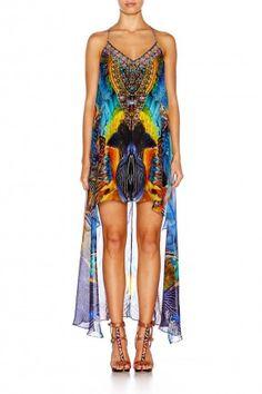 de9f0acb7cf DAWN TIL DUSK SPLIT FRONT DRESS W  LONG BACK Camilla Dress