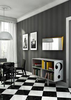 Aparador doble cara de aluminio simbolo Colección dream by altreforme | diseño Piter Perbellini, Garilab Associati