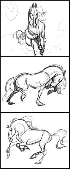 Els-A-Sketch: Warm-Up Horses.