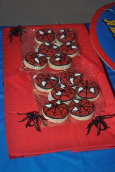 Cookies at a Spiderman Party #spiderman #cookies