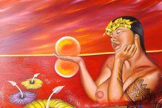 Polinización,,,creando+vida. By Lineth Márquez  Pintora Panameña