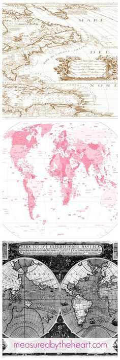 Free Map Downloads for Home Decor & Craft Projects!