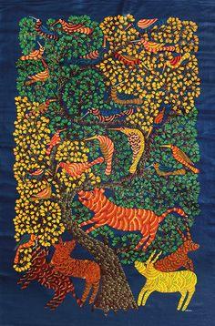 HitKu — Gond Tribal art by Narmada Prasad Tekam