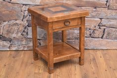 The San Juan Small night stand is perfect for small space. This unique collection is made from hand-crafted alder, 100 year-old oak, and turquoise inlay. Perfect to add the soul of the southwest to any home decor. These one-of-a-kind pieces, are hand crafted by an artisan. The details go down to the soft rounded edges and metal drawer slides, to wrought iron hardware and smooth joinery.
