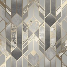 New & Exclusive Geometric Wallpaper Grey And Gold, Metallic Wallpaper, Grey Textured Wallpaper, Grey Wallpaper, Pattern Wallpaper, Latest Wallpaper, Bedroom Wallpaper, Wallpaper Designs, Grey And Gold Bedroom
