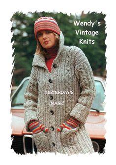 Vintage aran style coat