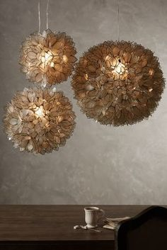 Anthropologie Coppice Shell Pendant Lamp