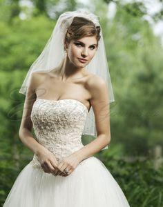 Ball Gown Strapless Softly Curved Neckline Wedding Dress