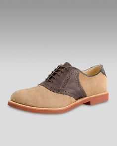 Nubuck Saddle Shoe by Walk-Over Shoes at Neiman Marcus. a0162f0f4
