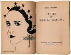 Paris. Editions de Cahiers Libres. 1933. 8vo. pp. 93, (5). Illustrated with monochrome frontispiece portrait by Valentine Hugo.
