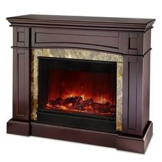 The Scamurra Wall/Corner Convertible Ventless Electric Indoor Fireplace Espresso $654.99