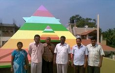 Ashoka Pyramid Dhayana kendra year of construction : 2011 size : 14ft x 14ft (roof top) | capacity : 30 persons cost incurred :  1.4 lakhs | type of structure : RCC timing : enquire, Open for Public Use technical support : Shivaji, Kalahasthi contact : Manjunath, mobile : +91 87100 29966 address : D.no 0732, Choultry street, Ramanagara http://www.pyramidseverywhere.org/pyramids-directory/pyramids-in-karnataka/ramnagara-district #Pyramid #Pyramids