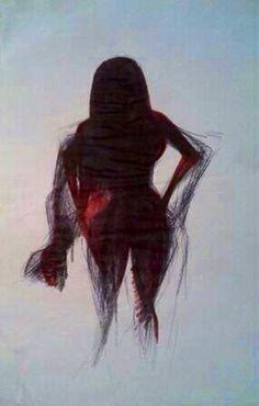 'The Power Of Karma.' Mixed Media On Paper. A4. #RosannaJacksonWright #Art #Drawing #Woman #Power #Karma #Abstract #Figurative #York #England #NYC #USA #Genoa #Italy #Mexico