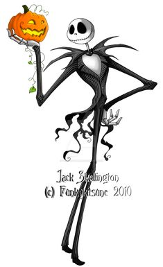 Here is the Pumpkin King, Jack Skellington! My third piece for *tavington 's Big Tim Burton Collaboration! <-- click to see the awesome! Jack Skellington (c) Tim Burton