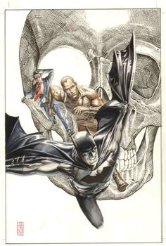 Batman, The Spirit and Doc Savage by JG Jones