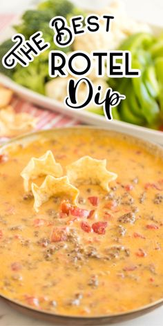 Rotel Dip is a mouth-watering smooth queso dip recipe with ground beef Rotel and Velveeta cheese! only 3 ingredients and less than 20 minutes to make it is a super easy appetizer recipe! Its the perfect party food to bring to the big game day! Mexican Appetizers, Easy Appetizer Recipes, Appetizer Dips, Appetizers For Party, Mexican Food Recipes, Cheese Appetizers, Mexican Dips, Easter Recipes, Drink Recipes