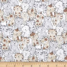 Timeless Treasures Babes in Farmland Cats Brown from @fabricdotcom  From Timeless Treasures, this cotton print is perfect for quilting, apparel and home decor accents.  Colors include white, black, grey, brown and tan.