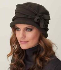 NWT Parkhurst Flower Cloche #25188 100% Wool H2o repellent made in Canada 1 size