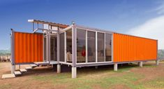 MCM flair to a tiny home.  Built from two shipping containers.