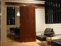 sliding door. Ideas. Mentions hardware. No real instruction details.