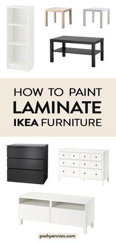 The Best Way To Paint IKEA Laminate Furniture If you've been wonderin. - The Best Way To Paint IKEA Laminate Furniture If you've been wondering exactly how to - Painting Ikea Furniture, Ikea Furniture Hacks, Ikea Hacks, Furniture Projects, Painted Furniture, Home Furniture, Furniture Design, Furniture Storage, Ikea Paint
