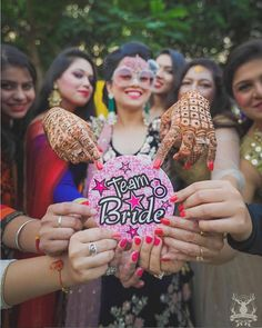 Indian bridesmaids duties   Bride's friends   BFF photos from Indian wedding   bride with BRIDE sunglasses and friends posing team bride badge   Morvi Images   The ultimate guide for the Indian Bride to plan her dream wedding. Witty Vows shares things no one tells brides, covers real weddings, ideas, inspirations, design trends and the right vendors, candid photographers etc.  #bridsmaids #inspiration #IndianWedding   Curated by #WittyVows - Things no one tells Brides   www.wittyvows.com