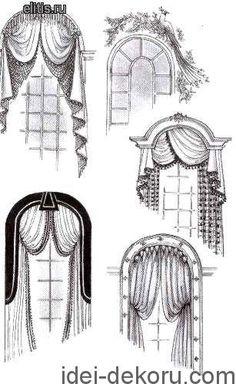 Arch window coverings: ideas and pictures! : Arch Window Arch window coverings: ideas and pictures! Arched Window Coverings, Curtains For Arched Windows, Curtains And Draperies, Window Curtains, Lounge Curtains, Front Windows, Valances, Drapery Designs, Pelmets