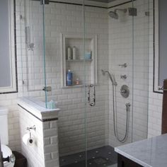 Traditional Recessed Shower Shelf Design, Pictures, Remodel, Decor and Ideas - page 4