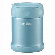 ZOJIRUSHI stainless food jar 350ml Aqua Blue SWEB35AB