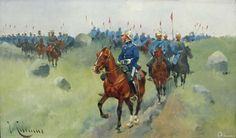 Lancers on the march Prussia, Warfare, 19th Century, Weapons, Armour, Empire, German, Industrial, Military